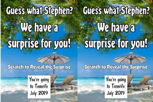 Personalised Sun Holiday Holiday Reveal Scratch Card